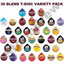 44 Tassimo T Dischi varietà degustazione, STARTER PACK: Caffè Cioccolato baccelli: 36 Blend