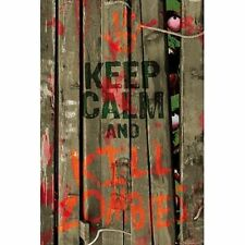 Keep Calm and Kill Zombies Humor Poster 24x36