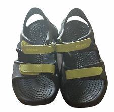 CROCS Swiftwater River Sandal Kids Lime Green/Black Toddler Boys Size C 10