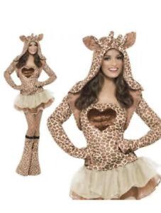 Fever Giraffe Costume, Tutu Dress, Brown, with Detachable Clear Straps EUC Small
