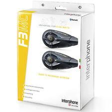Interphone F3MC casco de motocicleta Bluetooth sistema de intercomunicación universal-Doble
