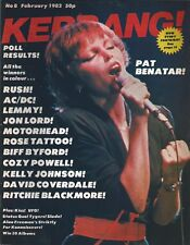 KERRANG! #8 FEB 1982: PAT BENATAR Slade STATUS QUO Kiss UFO Tygers of Pan Tang