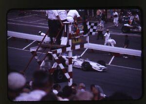1967 USAC Langhorne - Mario Andretti Wins Checkered Flag - Vtg 35mm Race Slide