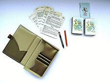 Vinyl Card Caddy Travel Case Full Double Deck Cards Canasta Bridge Poker Vintage