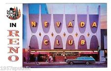 Nevada Club Reno Casino Vintage postcard long gone Virginia Street non Hotel NOS