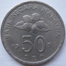 Malaysia 50 sen 1995 coin (A)