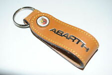 Fiat 500 Abarth Punto Evo Tan Brown Leather Key Ring Holder 46004886