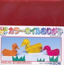 20 Origami Folding Paper 6in Metallic Color S-1710 AU