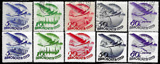 Russia #C45-49, used -1934- Civil Aviation - 2 Complete Sets - See description