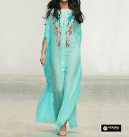 Caftano Copricostume Vestito Lungo Donna Mare Woman Boho Chic Dress COV0119