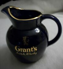 Vintage GRANT'S SCOTCH WHISKY / WATER PITCHER - BAR ADVERTISING - BLUE - ENGLAND