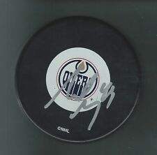 Sheldon Souray Signed Edmonton Oilers Puck