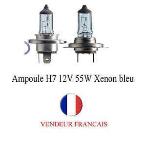 Ampoule H7 12V 55W Xenon Bleu pour tous type de voiture auto moto à l'unité