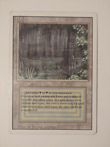 MtG - Magic the Gathering - BAYOU - Dual Land - Revised - Near Mint - OOP