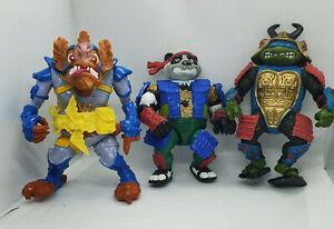 Teenage Mutant Ninja Turtles 1990 Samurai Leo Panda Kahn Wingnut Lot of Three