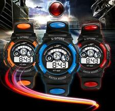 Waterproof Mens Boy's Digital LED Quartz Alarm Date Sports Wrist Watch