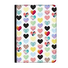 Patchwork Love Corazones patrón Universal Tablet 7 Pulgadas Flip Cuero Funda Protectora