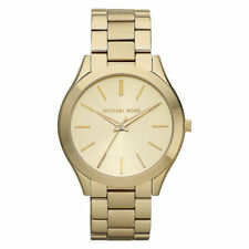 Relojes de pulsera fecha Michael Kors Runway de oro