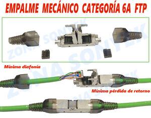 Empalme mecánico FTP - UTP Categoria 6a ( apto para  Cat 6 ).