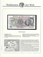 Banknotes of World Northern Ireland 1977 1 Pound UNC P-61b O'Neill Prefix H