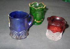 Vintage Glass Toothpick Holders ( 3 Pcs )