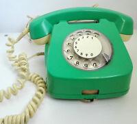 vintage Romanian retro green telephone rotary phone old school 1972 phones