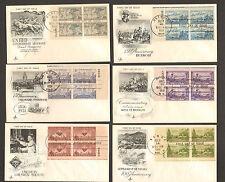 LOT of 6 RARE 1951 COMMEMORATIVE ENVELOPES FIRST DAY ISSUE VETERANS, DETROIT, ..
