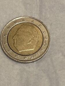 2 Euro Belgique 2005 Décentré Rare.