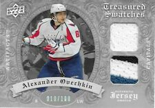 ALEX OVECHKIN 2008-09 Artifacts Treasured Swatches Silver Jersey #10/100 Capital