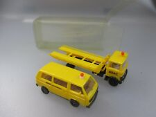 "Herpa: Mercedes Benz Autotransporter ""ADAC Pannenhilfe"" m. VW T3 Bus   (PK3)"
