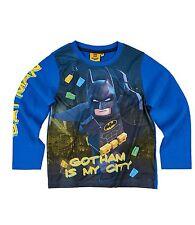 Boys Girls Kids Character Long Sleeve T-shirt Top Age 2-12 Year Lego Batman 03 up to 8 Years