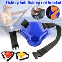 Fishing Waist Belt Fish Rod Holder for Adjustable Pole Tackle