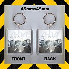 Guss aus Stahl - a-ha - CD Abdeckung Schlüsselring - Schlüsselanhänger - 45mm x