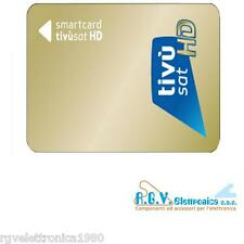 TESSERA SMARTCARD TIVUSAT HD SOLO SMART CARD Tivùsat CANALI HD SD DA ATTIVARE