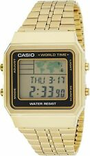 Casio Classic A-500WGA-1DF World Map Gold Watch