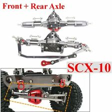 CNC Complete Metal Front + Rear Axle Set For 1/10 Axial SCX-10 Rock Crawler Car
