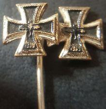 ✚7662✚ German post WW2 1957 pattern miniature pin badge Iron Cross First Class