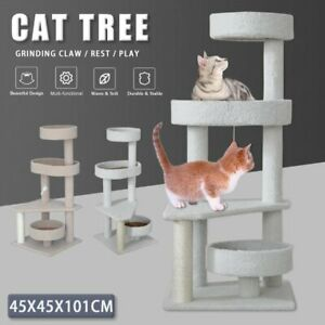 101cm Cat Tree Scratching Post Scratcher Tower Condo Toy House Multi Level AU