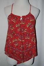 NWT AMERICAN EAGLE OUTFITTERS Red Sleeveless Braided Cord Women's Top Size S/P