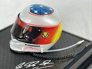 M Schumacher Miniature Helmet 1999 Ferrari Hot Wheels 1/8 F1 Formula 1 OOAK
