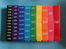 Educational Aid Fraction Blocks Learning Children Fraction Stax