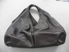 Uterque Soft Brown Leather Hobo Bag