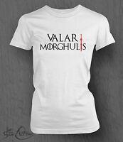 Game of Thrones T-Shirt Valar Morghulis LADY FIT All Men Must Die, Stark Women's