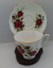 vintage Colclough  Red Roses Cup and  Saucer #769614