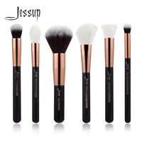 Jessup 6pc Makeup Brush Cosmetic Set Check Stippling Powder Concealer Highlight