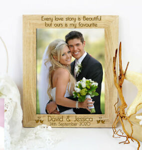 Personalised Wedding Day Quote Photo Frame Wedding Anniversary Engagement Gift