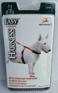 Sporn Easy Training Adjustable Dog Harness With Pull Control - Medium Red