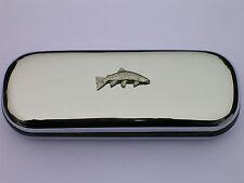 Trota Arcobaleno Pesci Brand New Chrome Occhiali CASE GRANDE REGALO NATALE!!