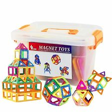 Magnetic Blocks Toy Large Triangle Magnets Building Block Toy Girls&Boys 64pcs