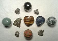 11 Stones - Spheres, Tigers Heart, Hematite, Unikite, Aventurine  Peacock Pyrite